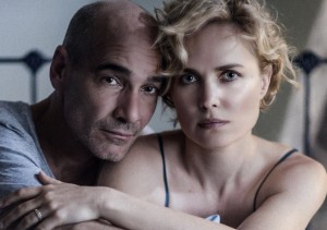 Portrait - Ray (Jean-Marc Barr) & Iris (Radha MItchell) in Whoever Was Using This Bed     Photo - Mark Rogers